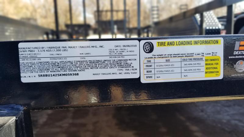 "2018 MAXXD Black 77"" x 14' Tandem Axle Utility Trailer"