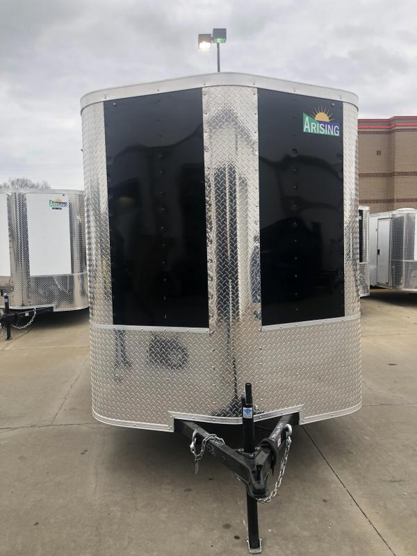 2019 Arising 6X10 BLACK Enclosed Cargo Trailer