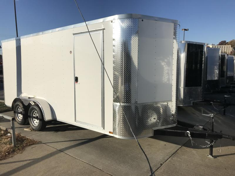 2018 Arising White 7 x 16 Cargo / Enclosed Trailer
