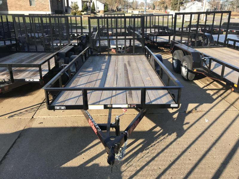 "2018 MAXXD Single Axle Black 77"" x 16' Utility Trailer"