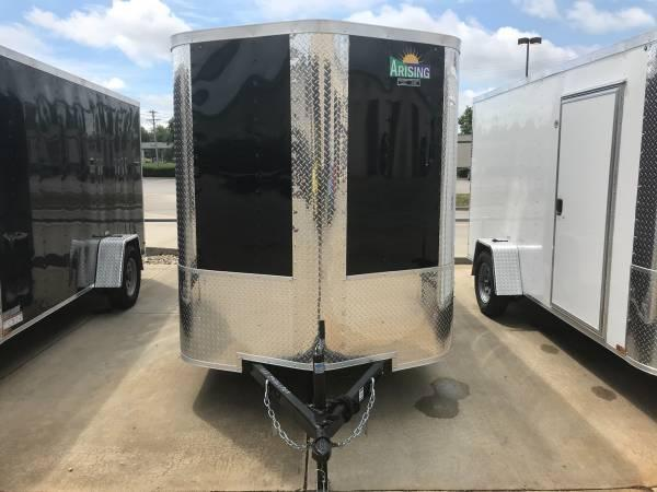 2018 Arising Black 6' x 12' Enclosed Cargo Trailer
