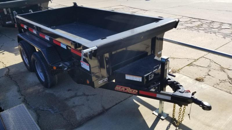 "2018 MAXXD Black 5' x 10' ""Tuff Side"" Dump Trailer"
