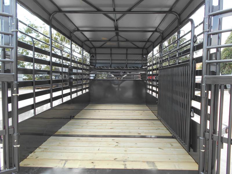 2018 Delco Trailers 6005732 GOOSENECK BAR TOP 2X7 K AXELS 68'X16' Livestock Trailer