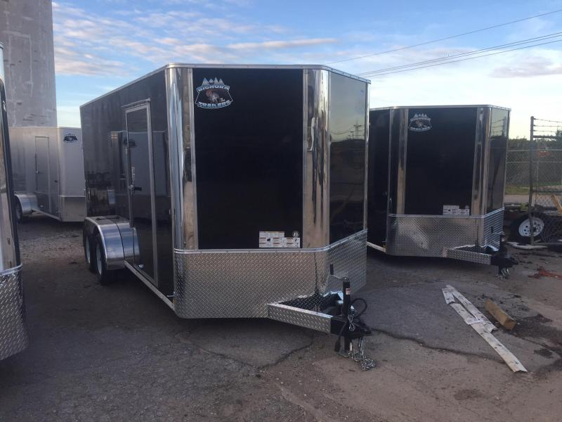 2020 R&M 7x16 Black Contractor V Enclosed Cargo Trailer