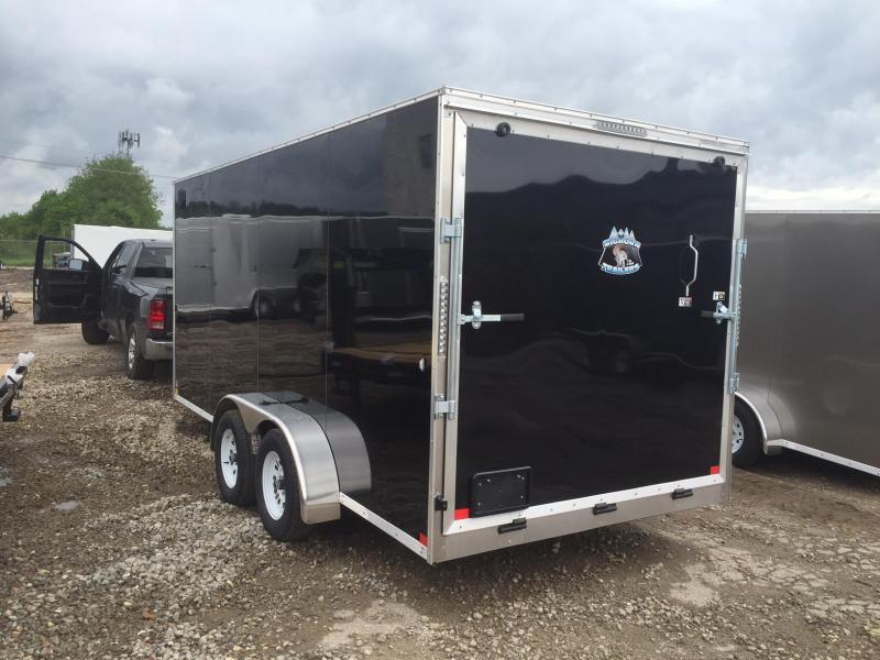 2020 R&M 7x16 Black Contractor V Enclosed Cargo Trailer