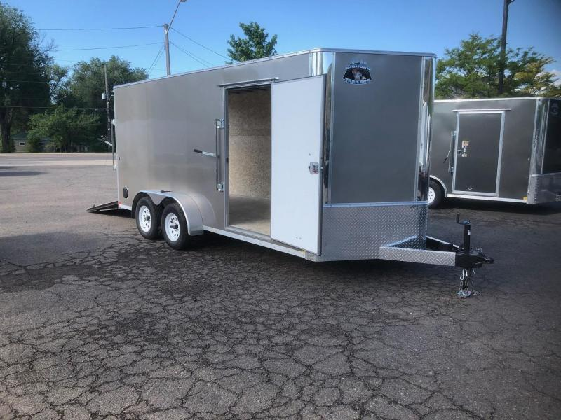 2020 R&M 7x16 v-nose TAC Enclosed Cargo Trailer-WHEAT RIDGE