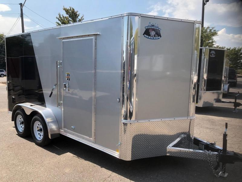 2020 R&M 2-tone 7x14 v-nose (TAC) Enclosed Cargo Trailer-Wheat Ridge