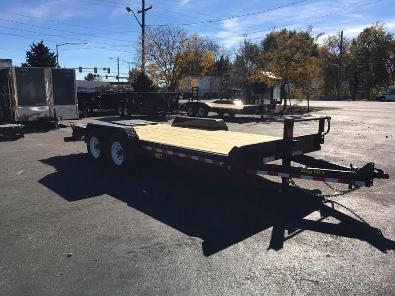 2018 Big Tex Trailers 14ET-18 with Mega Ramps Equipment Trailer-CO SPRINGS