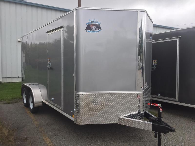 2020 R&M 7x16 TAS Silver Enclosed Cargo Trailer