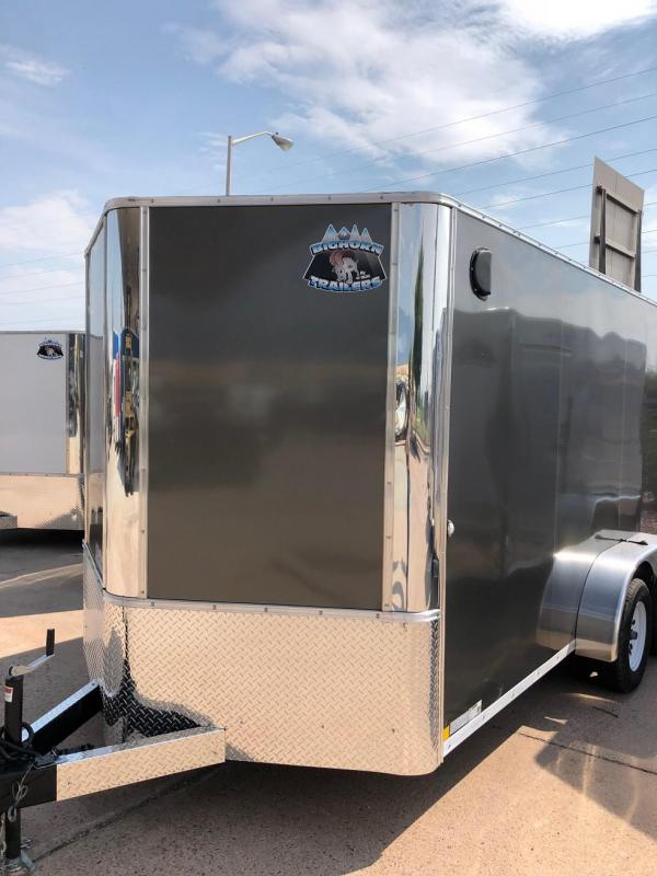 2019 R&M Manufacturing EC 7 14 TA Enclosed Cargo Trailer-CO SPRINGS