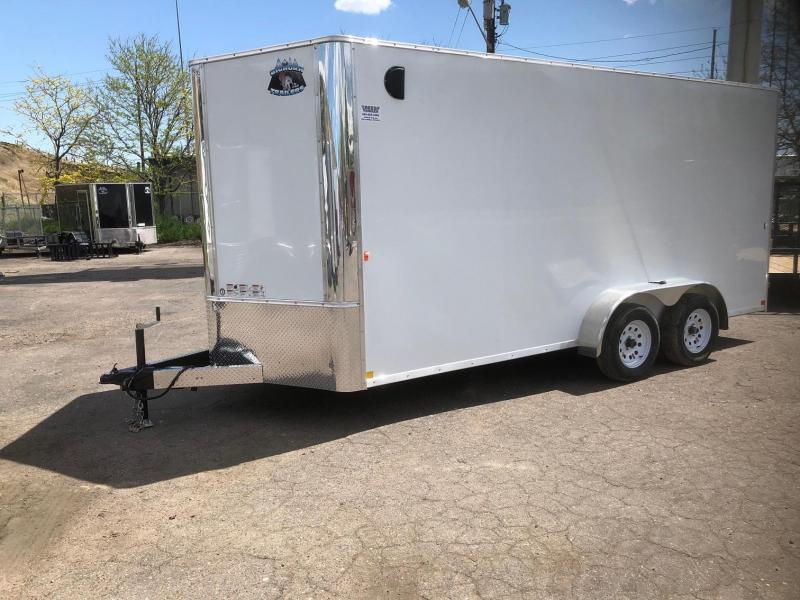 2020 R&M 7x16 v-nose TAC Enclosed Cargo Trailer-WHEAT RIDGE