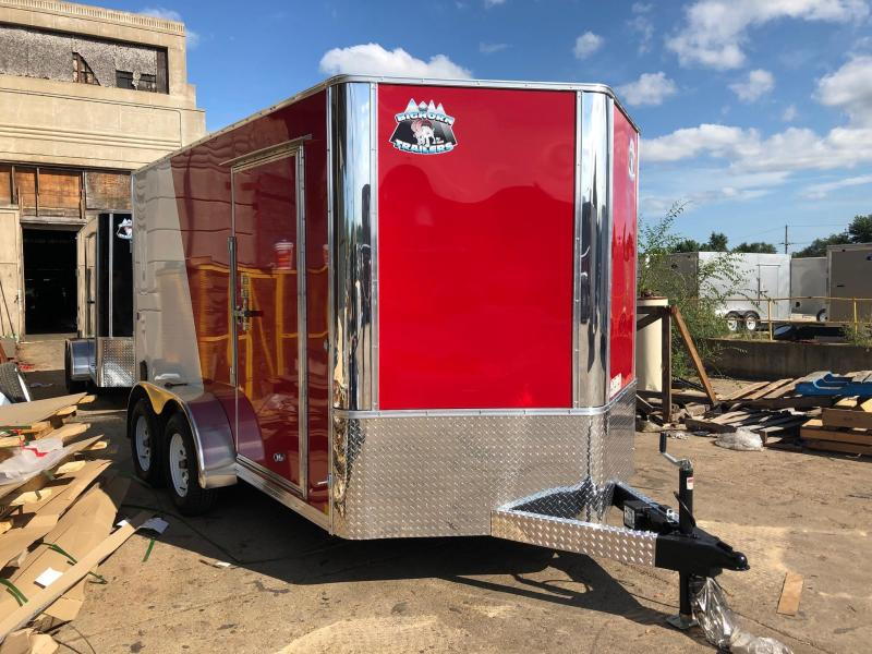 7x12 Big Horn Red/White Two Tone Cargo Trailer 2020
