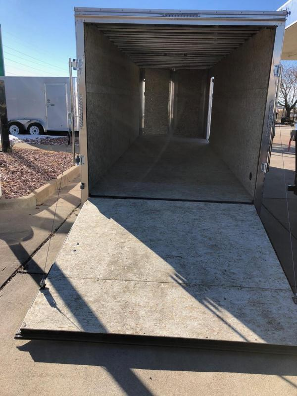 2019 R and M Manufacturing 7x20 v-nose 10k Enclosed Cargo Trailer-CO Springs
