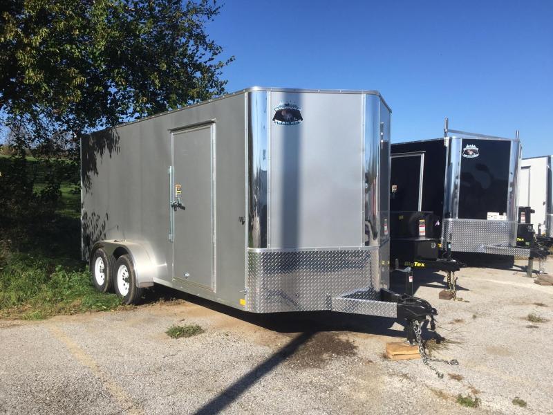 2019 R&M 7x16 Big Horn Contractor Enclosed Cargo Trailer