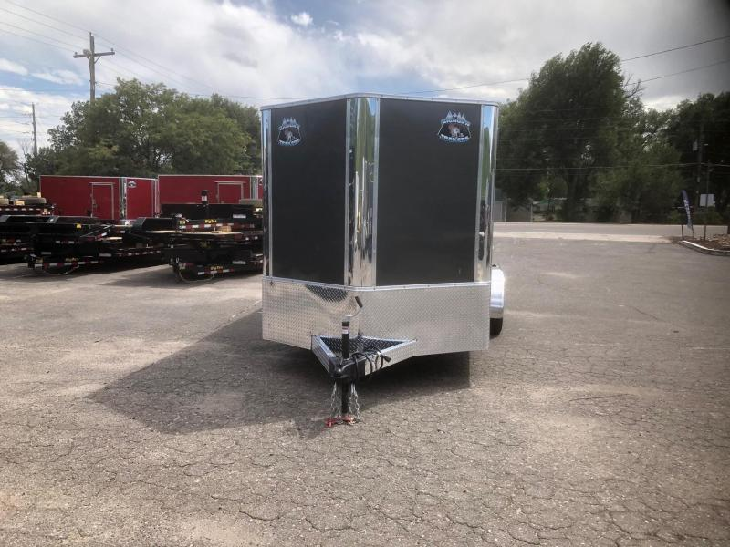 2020 R&M 7x14 v-nose (Barn Doors) Enclosed Cargo Trailer-Wheat Ridge