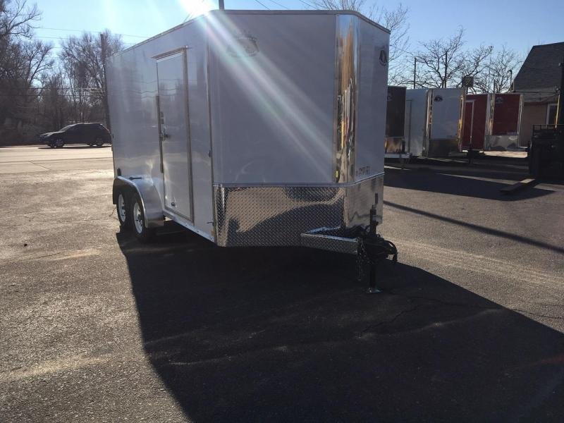 2019 R&M Manufacturing 7x14 v-nose TAS Enclosed Cargo Trailer-WHEAT RIDGE