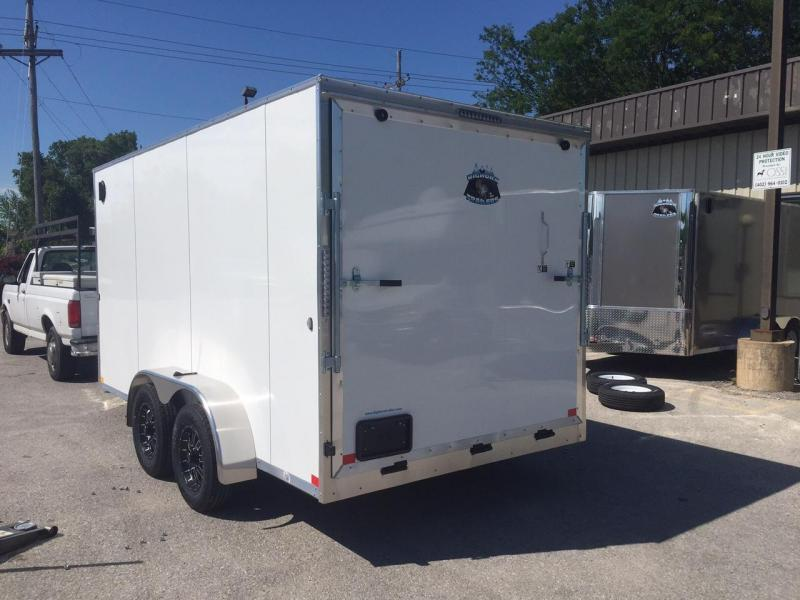 2019 R&M 7X14 Big Horn White Contractor Enclosed Cargo Trailer