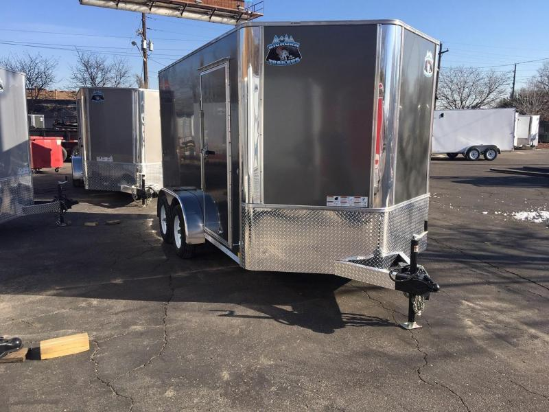 2020 R&M 7x12 v-nose Enclosed Cargo Trailer-Wheat Ridge