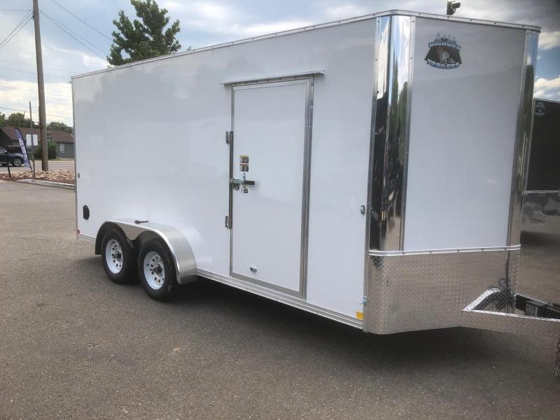 "2020 R&M 7x16 v-nose 84"" (TAC) Enclosed Cargo Trailer-Wheat Ridge"
