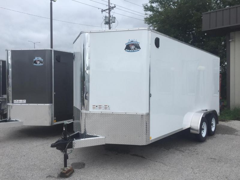 2020 R&M EC 7 16 TAS White Enclosed Cargo Trailer