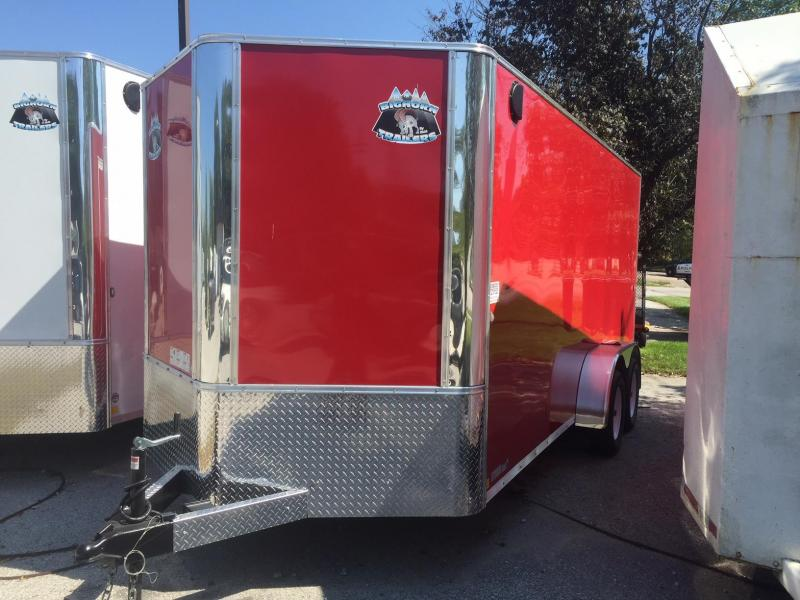 2019 R&M Manufacturing EC 7 16 TA RED Enclosed Cargo Trailer