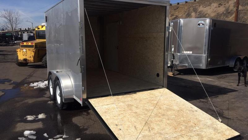 2020 R&M 7x12 v-nose Enclosed Cargo Trailer-Wheat Ridge