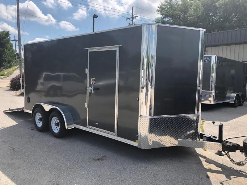 "7x16 Big Horn R&M Cargo Trailer 10K W/84"" Wall"