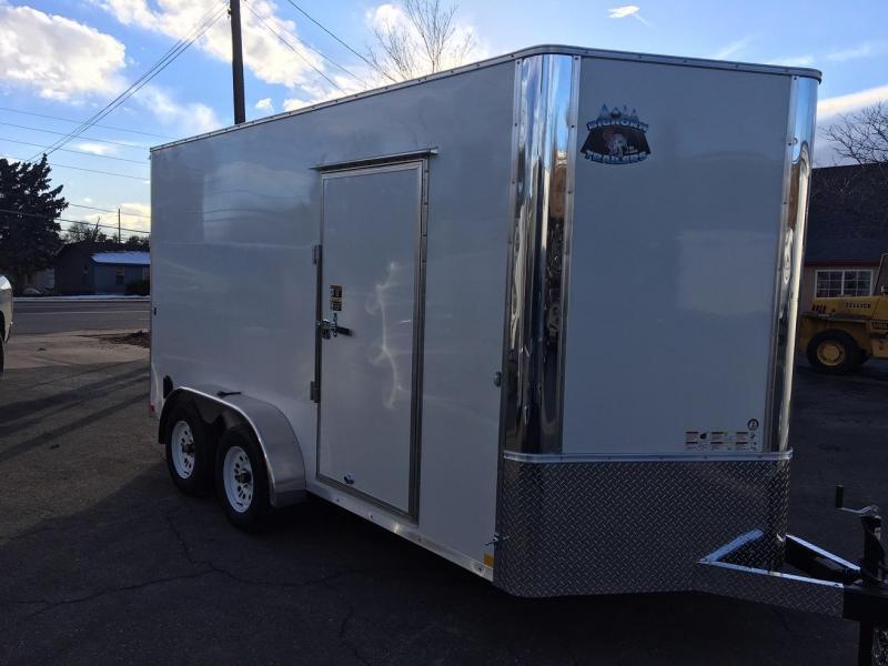 2019 R&M Manufacturing 7x14 v-nose TAC Enclosed Cargo Trailer-WHEAT RIDGE