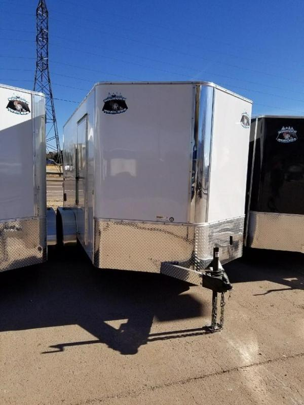 2019 R&M Manufacturing 7x14 v-nose TAS Enclosed Cargo Trailer-CO SPRINGS