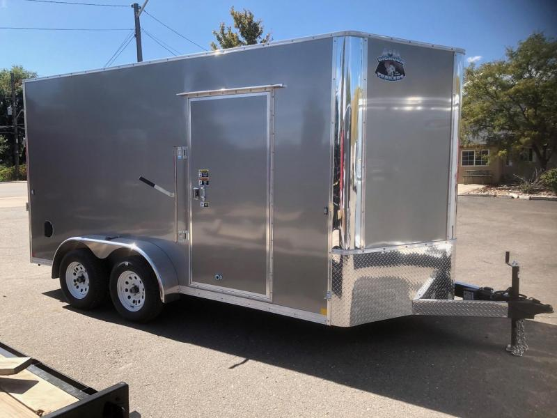 "2020 R&M 7x14 v-nose (84"" tall) Enclosed Cargo Trailer-Wheat Ridge"