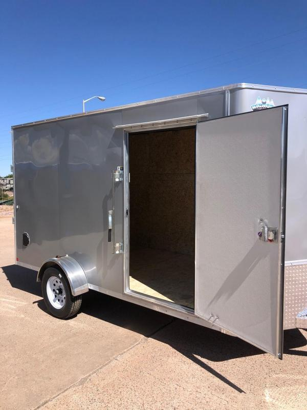 2020 R&M 6x12 v-nose (Silver) Enclosed Cargo Trailer-Silver
