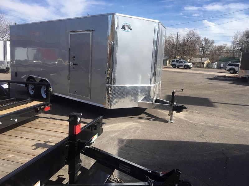 2020 R&M 8.5x18 v-nose 10k Enclosed Cargo Trailer-Wheat Ridge