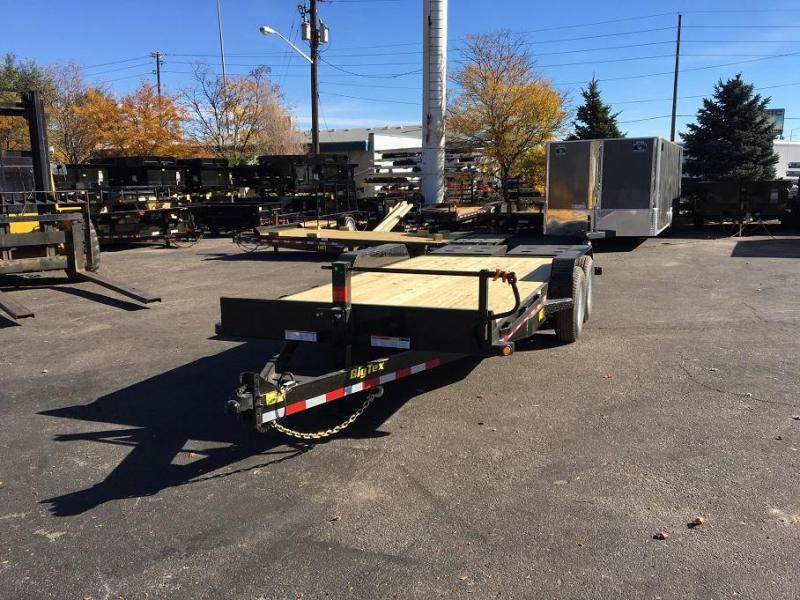 2019 Big Tex Trailers 14ET-18 w/Mega Ramps Equipment Trailer-WHEAT RIDGE