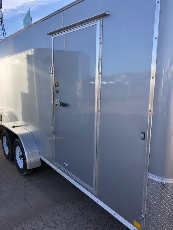 2019 R&M Manufacturing EC 7 16 TAS White Enclosed Cargo Trailer