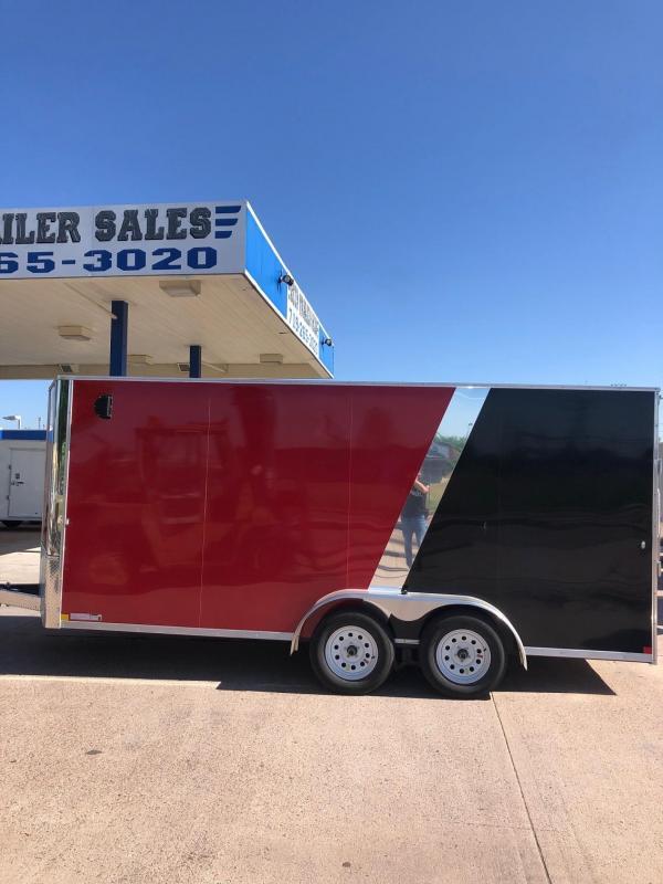 2020 R&M 7X16 v-nose Enclosed Cargo Trailer-CO Springs