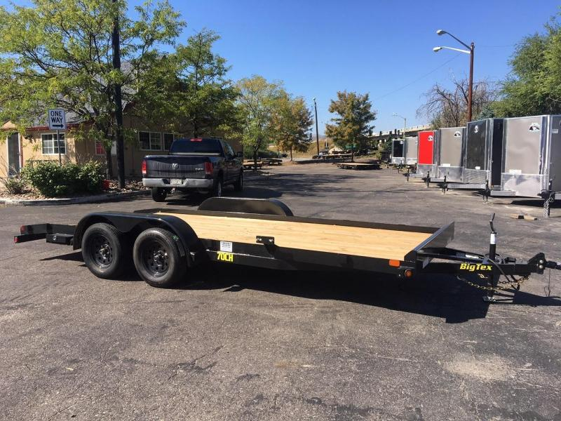 2019 Big Tex Trailers 70CH-18 W/DOVETAIL Car / Racing Trailer-Wheat Ridge