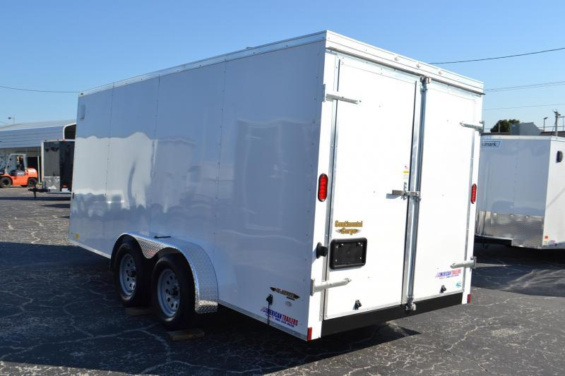 7x16 Continental Cargo | Enclosed Trailer [Barn Doors]