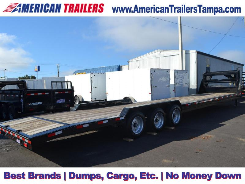 35'+3' Dovetail and DRIVE OVER FENDERS 2018 Lamar Trailers Equipment Trailer Equipment Trailer