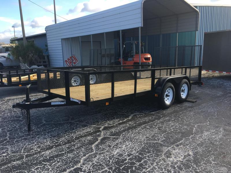 6x16 Red Hot Trailers | Utility Trailer [2' Mesh Sides]