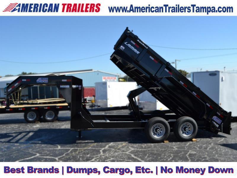 USED 2018 7x14 Lamar Trailers   Dump Trailer [Gooseneck]