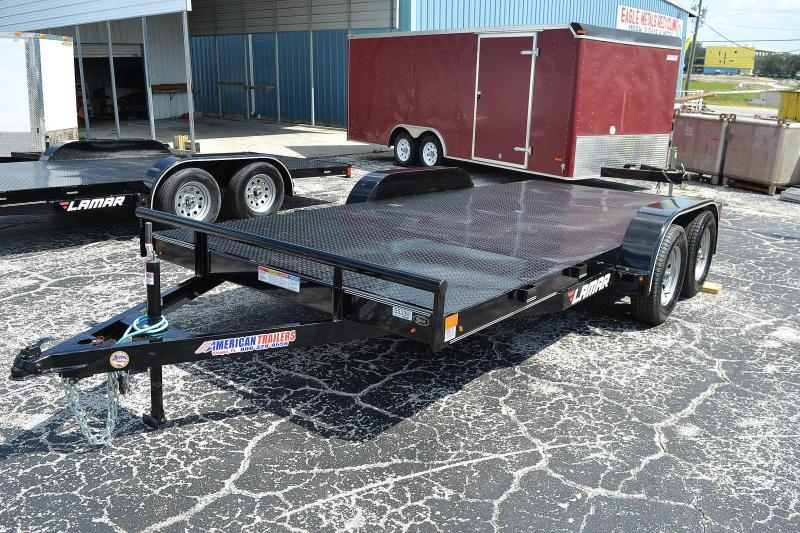 7x16 Lamar | Steel Deck | Car Hauler Trailer