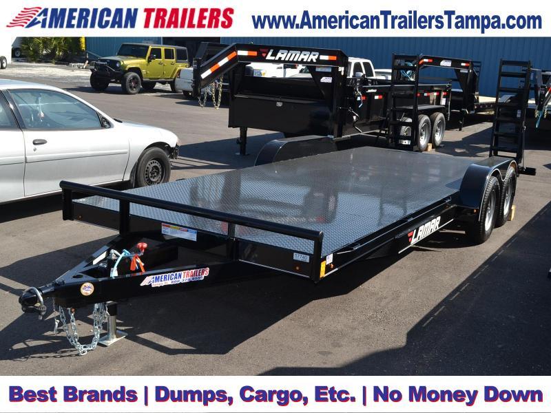 Dovetail Utility Trailer 7 X 20: Steel Deck Car Hauler Trailer