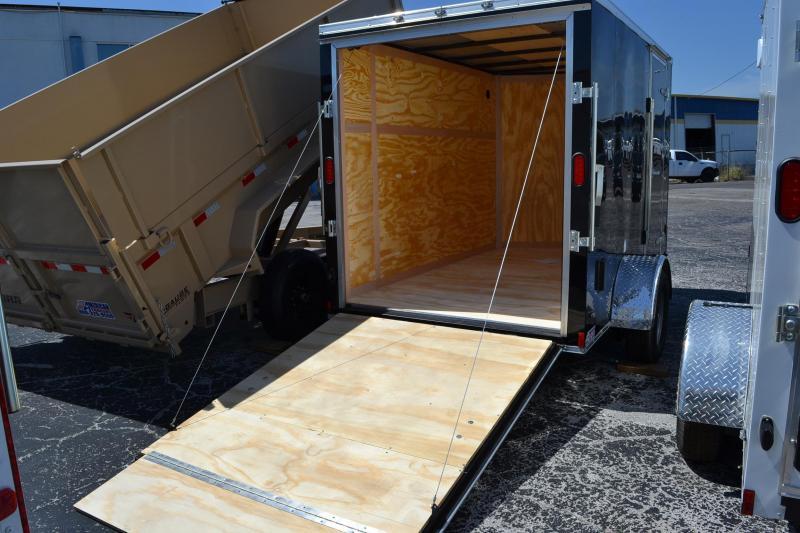 6x10 Continental Cargo   Enclosed Cargo Trailer