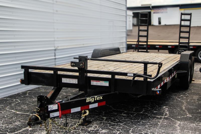USED: 7x22 Big Tex Trailers   Equipment Trailer [14ET-22BK]