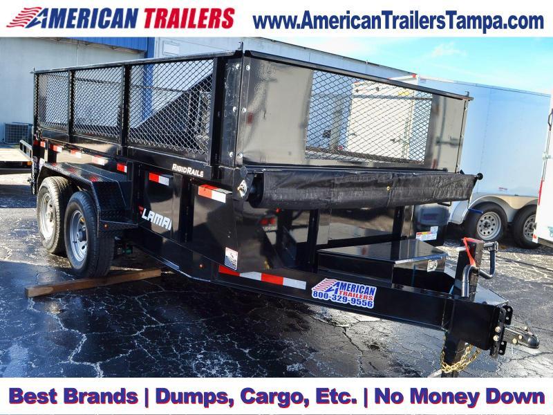 7x14 Lamar Trailers | Dump Trailer [2' Side Mesh Extensions]