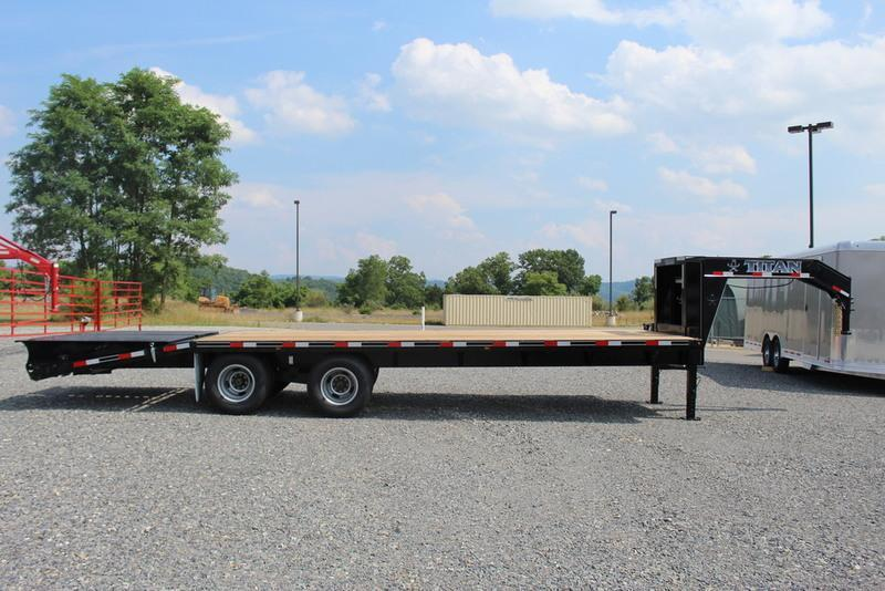 2017 Titan Trailer Tandem Dually Flatbed Trailer