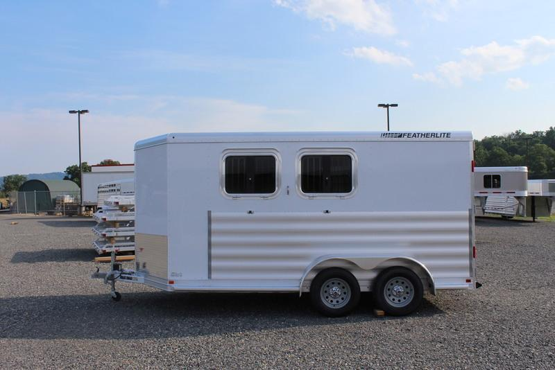 """2017 Featherlite Trailers 9409 6'7"""" wide 2 horse base"""