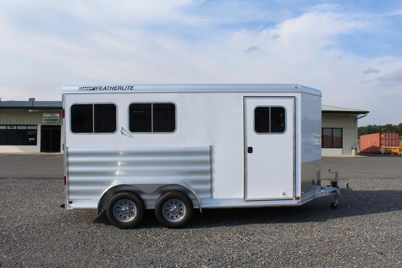"2017 Featherlite Trailers 9409 6'7"" wide 2 horse base"