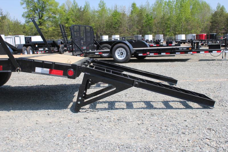 2019 PJ Trailers 20CC 16K w/ Tongue Box & Fold Up Ramps