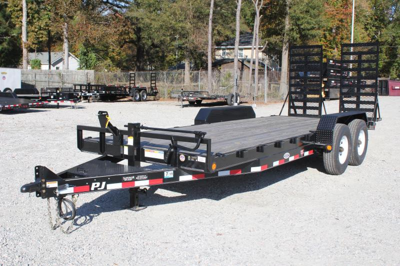 2019 PJ Trailers 20ft CC 16K Equipment Trailer w/ 31x66 Ramps